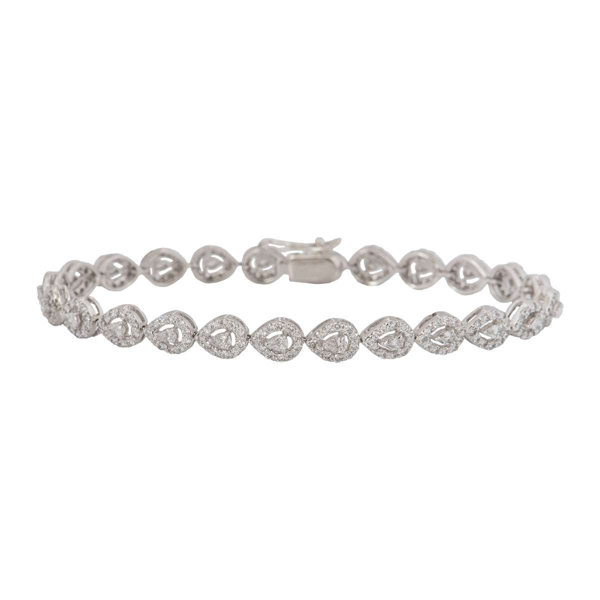 White Gold Diamond Bracelet 3.50ct